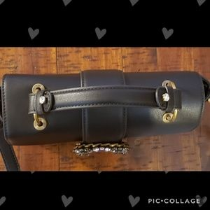 Beautiful black bow tie jeweled Aldo bag